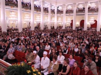 Посвящение в студенты ММА им. Сеченова в 2009 году , фото с сайта mma.ru